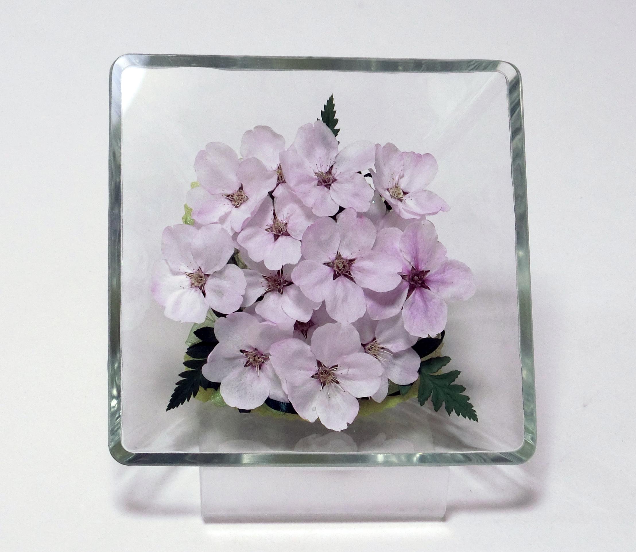 桜のボトルフラワー サクラ(ソメイヨシノ桜) スクウエアタイプM スタンド付き お花のプレゼント 母の日ギフト 退職祝い
