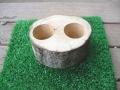 木製エサ皿(16g用2個穴)