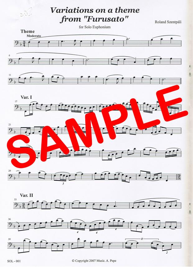 """Variations on a theme of """"Furusato"""" (R.Szentpali) - """"ふるさと""""の主題による変奏曲 (R.セントパーリ)"""