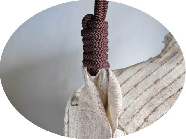 網織生平頭陀袋(ずだぶくろ)結び目の図