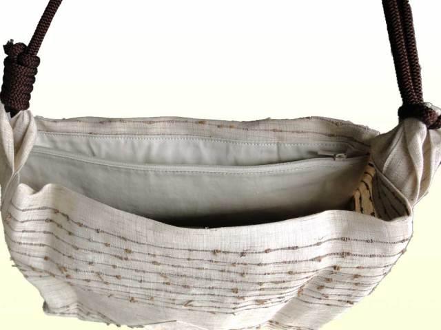 網織生平頭陀袋(ずだぶくろ)内側