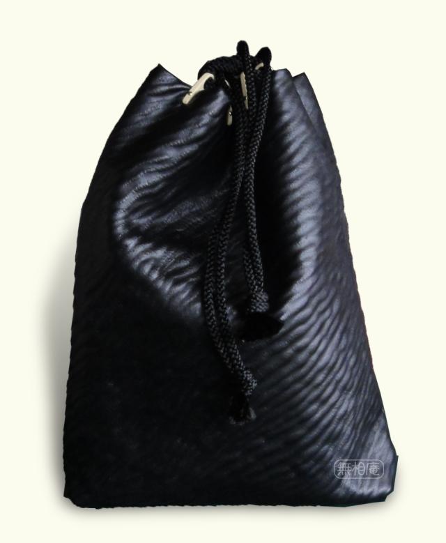 〔本革〕頭陀袋/黒