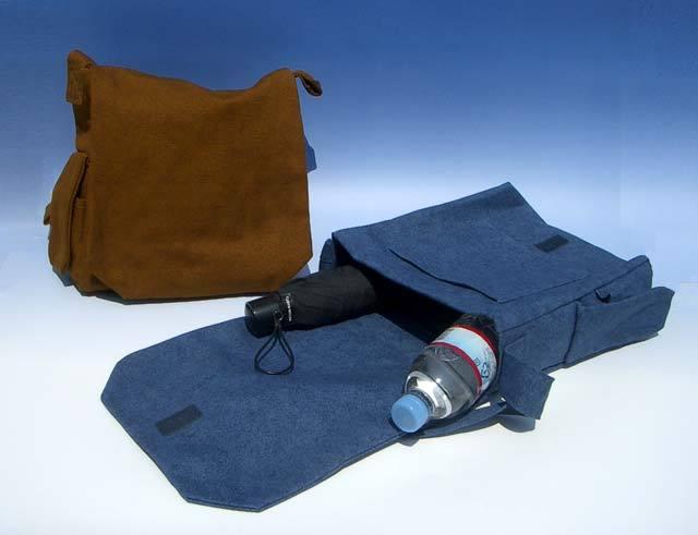 携帯ポケット付き頭陀袋(小)開き姿