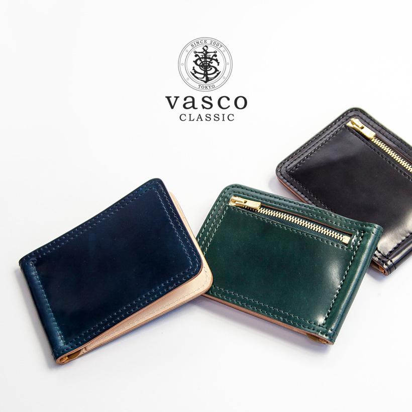 VASCO CLASSIC ヴァスコクラシック シェルコードバン マネークリップ財布 本革 日本製