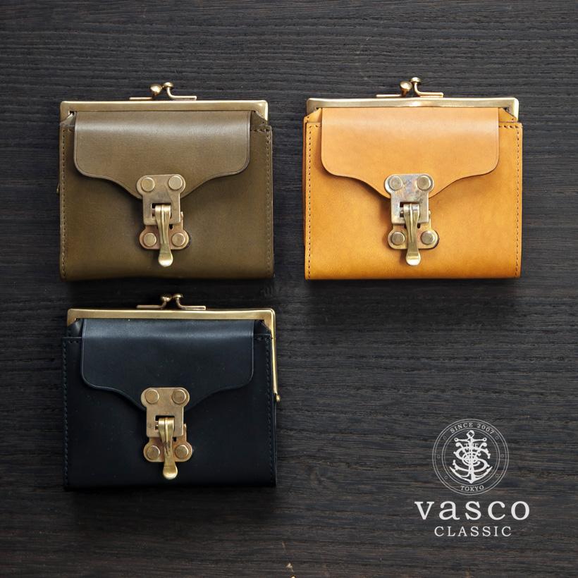 VASCO CLASSIC ヴァスコクラシック バケッタレザー がま口 二つ折り財布 本革 日本製