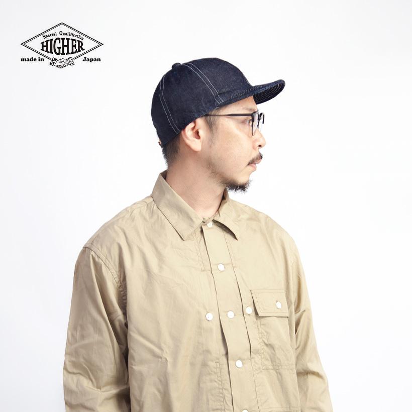 HIGHER ハイヤー セルヴィッジデニムキャップ 帽子 ワークキャップ 日本製 メンズ レディース ユニセックス