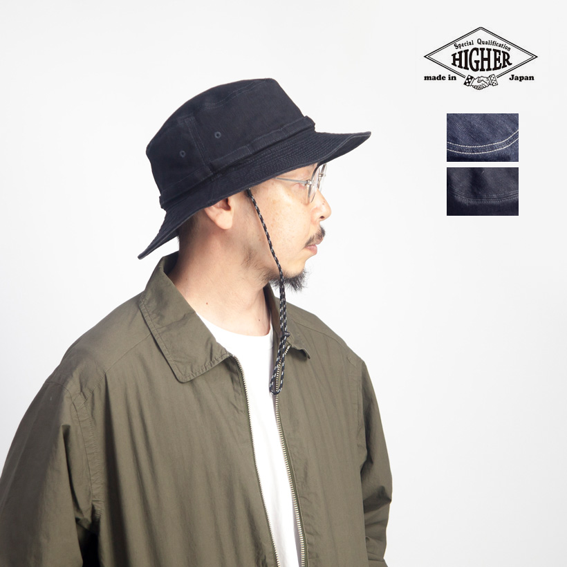 HIGHER ハイヤー デニム&カツラギ フィールドハット 帽子 日本製 メンズ レディース ユニセックス