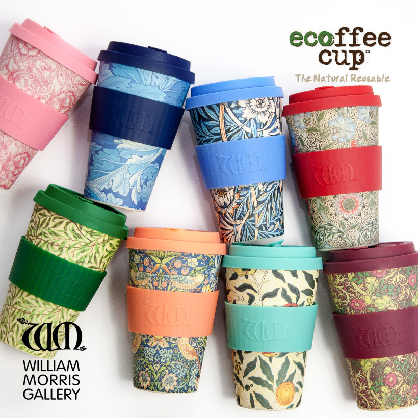 ecoffee cup エコーヒーカップ WILLIAM MORRIS ウィリアムモリス タンブラー デザイン かわいい おしゃれ ギフト
