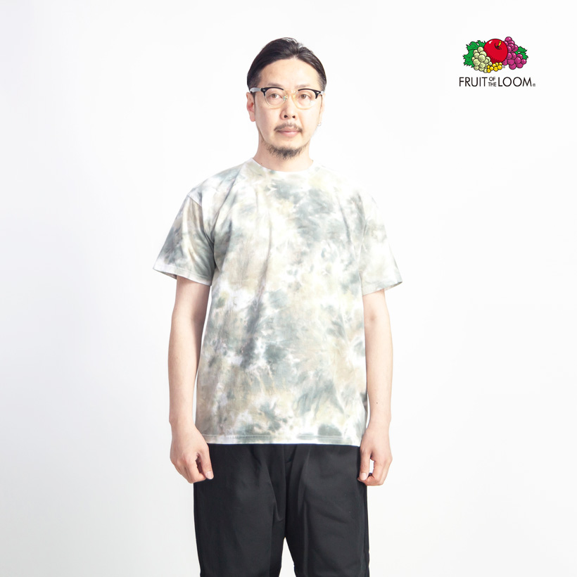 FRUIT OF THE LOOM フルーツオブザルーム マーブルタイダイ染め Tシャツ メンズ