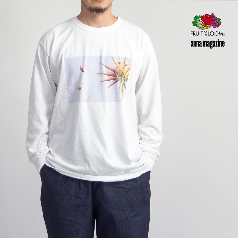 FRUIT OF THE LOOM フルーツオブザルーム ANNA MAGAZINE アンナマガジン フォトプリント長袖Tシャツ ロンT メンズ