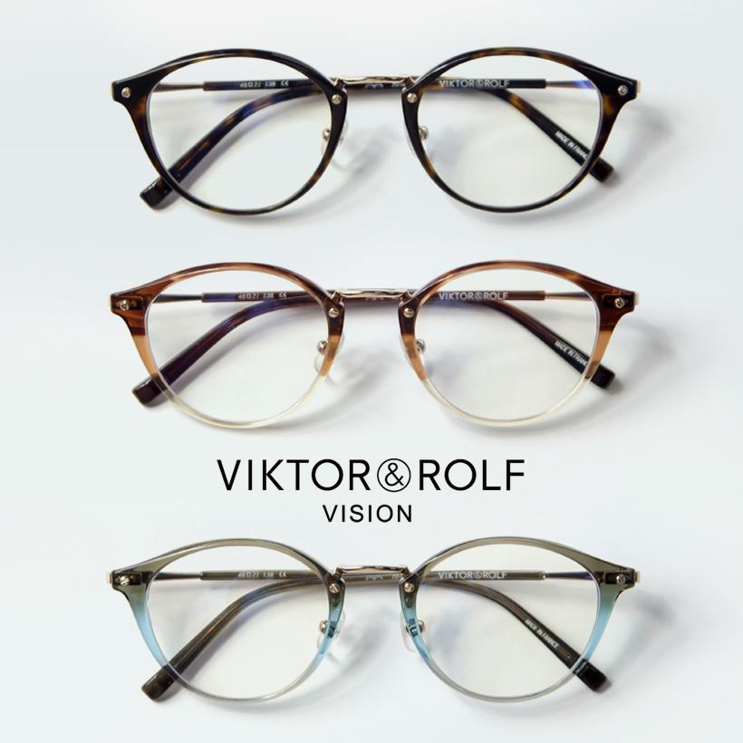 VIKTOR&ROLF ヴィクター&ロルフ コンビ ボストンフレーム メガネ 度付き 伊達 70-0204