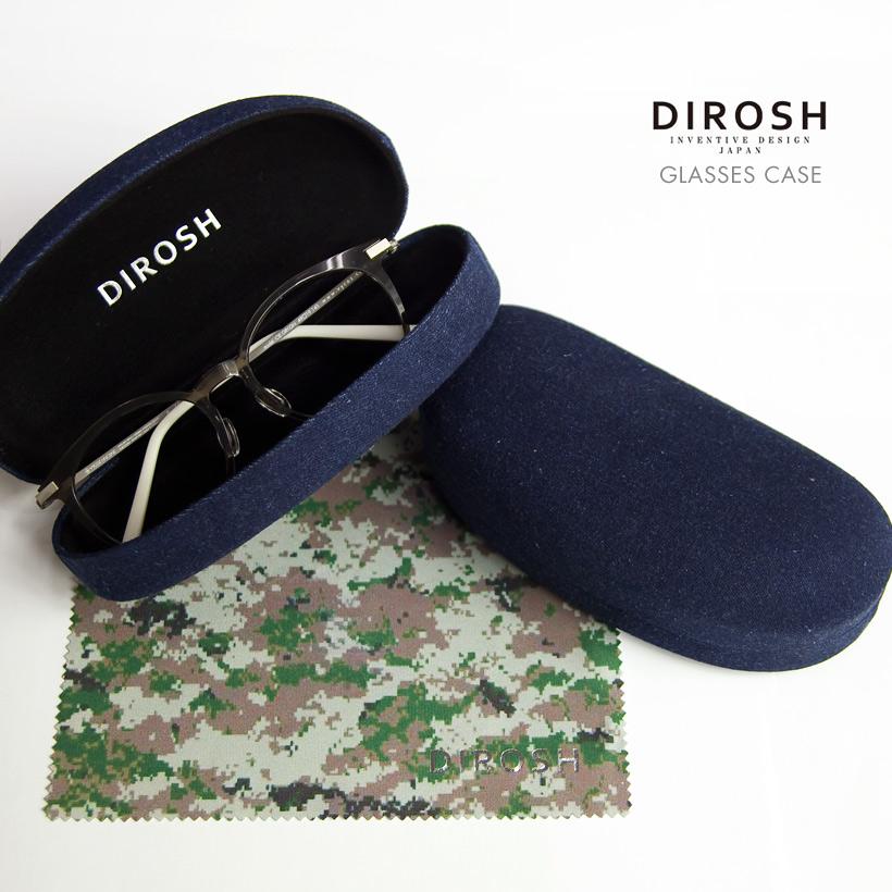 DIROSH ディロッシュ デニムメガネケース セリート付き ハード おしゃれ