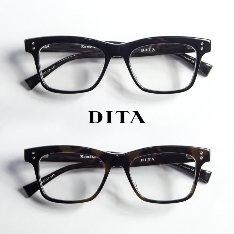 DITA ディータ RAMBLER 53サイズ ウェリントン メガネ 伊達 度付き