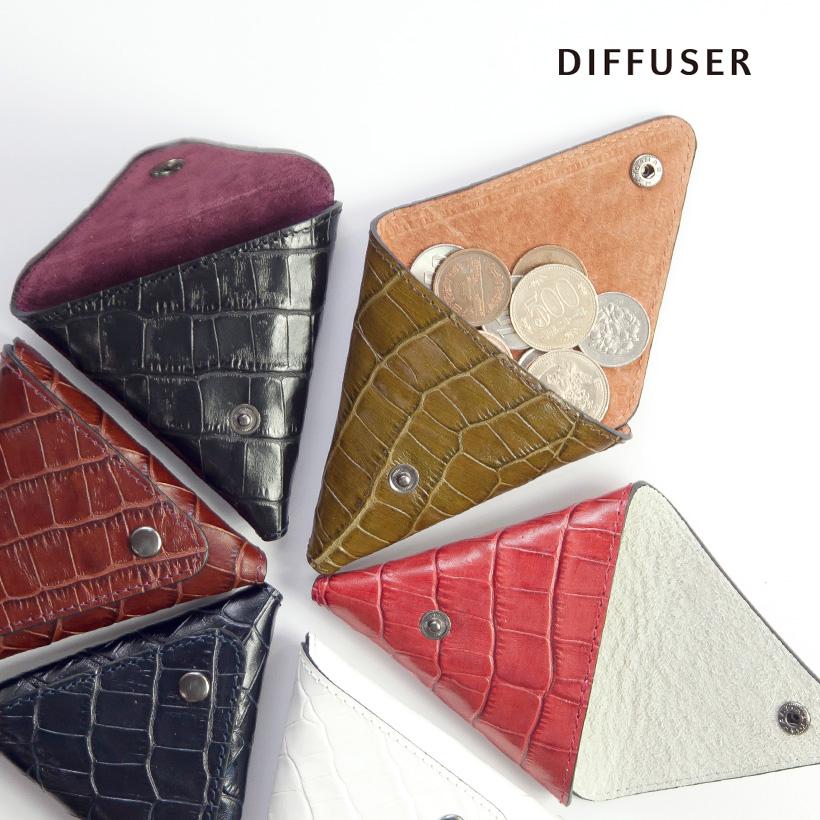 DIFFUSER ディフューザー コインケース クロコダイル型押し 国産レザー 本革 おしゃれ 日本製