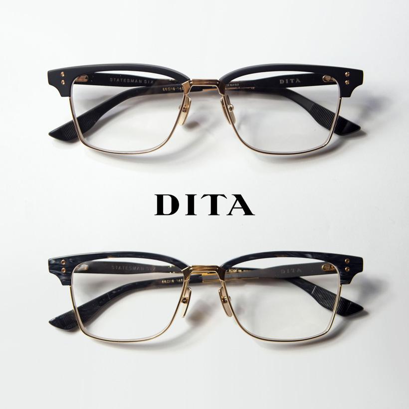 DITA ディータ STATESMAN-SIX 55サイズ サーモント ブロー メガネ 伊達 度付き