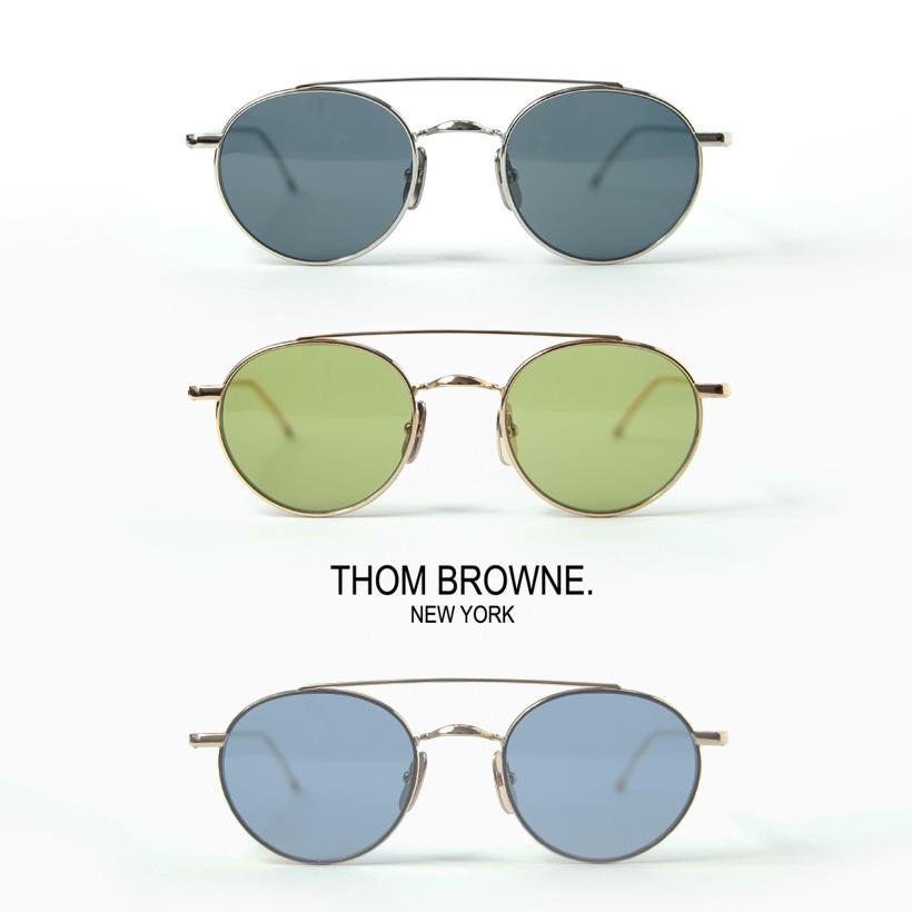 THOM BROWNE トムブラウン TB-101 ボストンサングラス 49サイズ メガネ 伊達 度付き