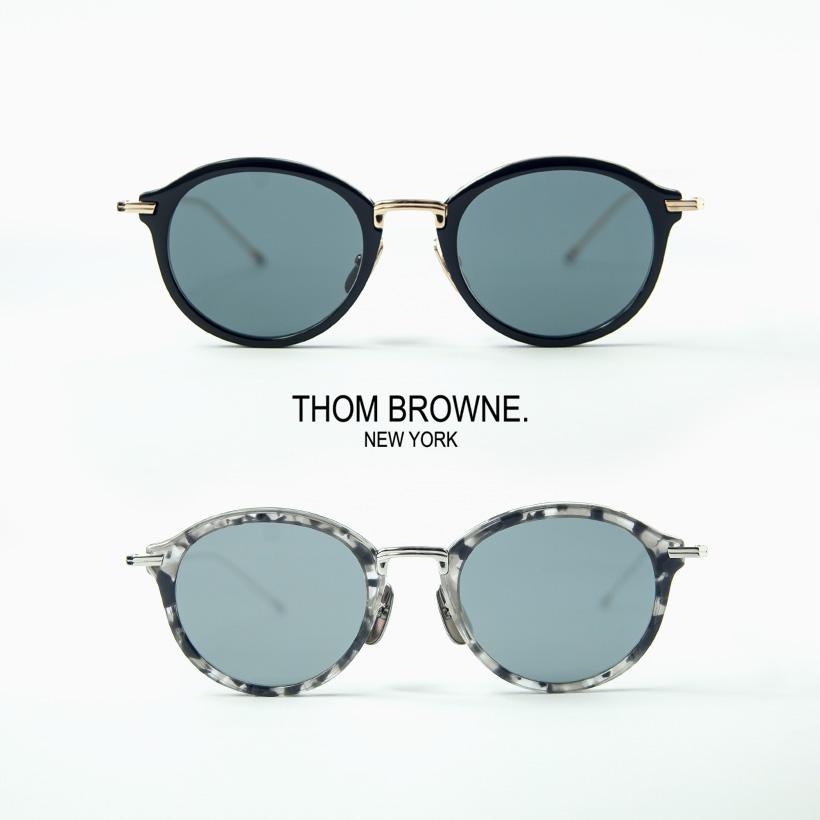 THOM BROWNE トムブラウン TB-908 ボストンサングラス 49サイズ
