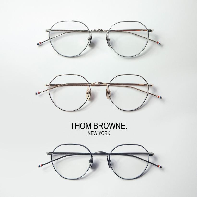 THOM BROWNE トムブラウン TBX-914 クラウンパント ボストンフレーム 48サイズ メガネ 伊達 度付き