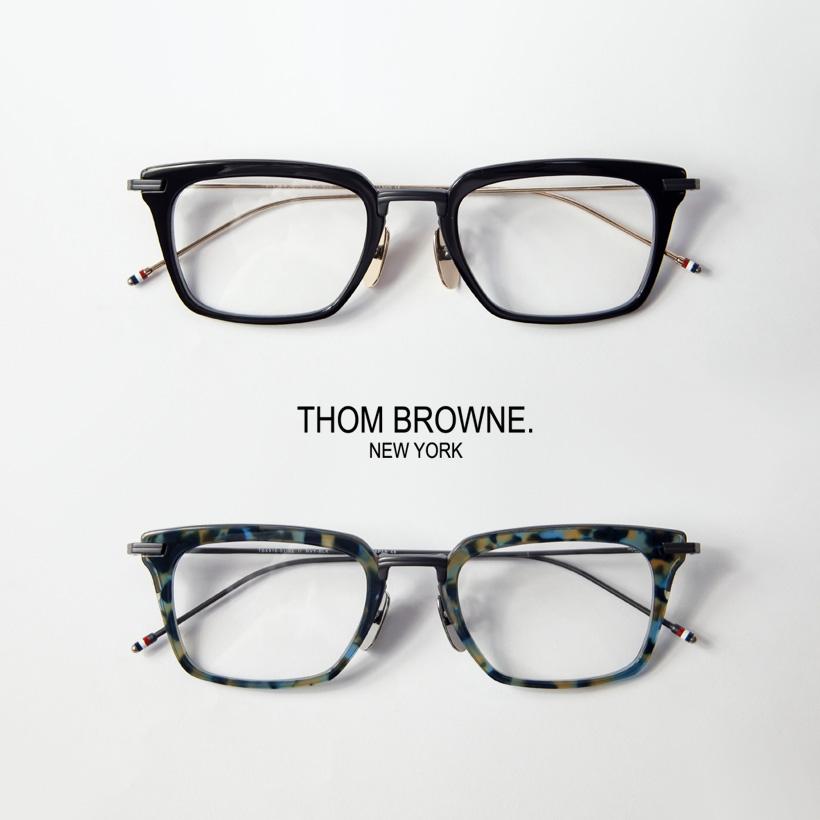 THOM BROWNE トムブラウン TBX-916 スクエアフレーム 51サイズ メガネ 伊達 度付き