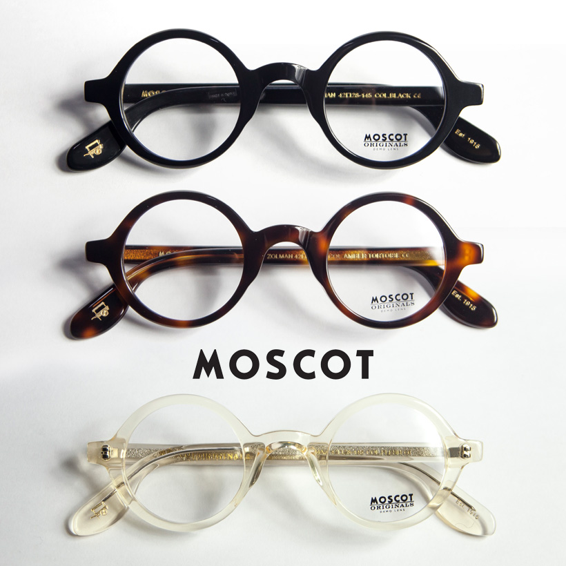 MOSCOT モスコット ZOLMAN ラウンドフレーム 丸メガネ 伊達 度付き
