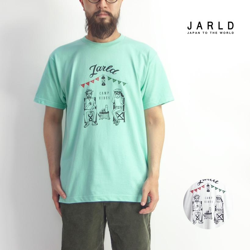 JARLD ジャールド LID BREAK コラボ プリントTシャツ キャンプ メンズ