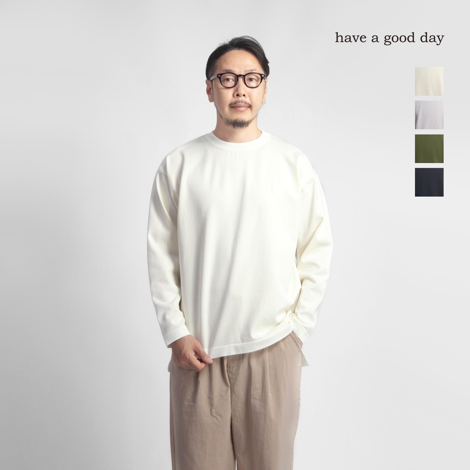 have a good day ハブアグッドデイ ウォータープルーフ プレーティングニット 日本製 メンズ