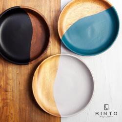 RINTO リント アカシアウッド ラウンドプレート S 木製 皿 中皿 食器 器 おしゃれ かわいい