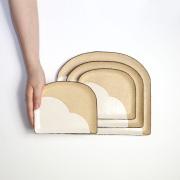 信楽焼 灰釉パン皿(小) te-no-hira ツジタカコ 小皿 陶器 かわいい おしゃれ