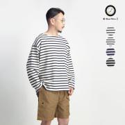 Upscape Audience オーディエンス フレンチボーダー ボートネック バスクシャツ 長袖カットソー 日本製 メンズ
