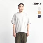 amne アンヌ コーマ天竺 サイドスリットポケットTシャツ 日本製 メンズ