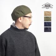 HIGHER ハイヤー ドビーウールメルトン ベレー帽 日本製 メンズ レディース