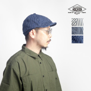 HIGHER ハイヤー ヒッコリーストライプ ポストマンキャップ 帽子 軽い 日本製 メンズ レディース ユニセックス