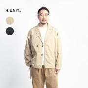 H.UNIT エイチユニット コットンリネンカルゼ イージーシャツジャケット 日本製 メンズ