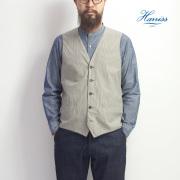 Harriss ハリス ガンクラブチェック タイプライターベスト ジレ メンズ