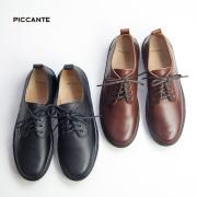 PICCANTE ピカンテ 牛革 オックスフォード レザースニーカー 本革 シューズ メンズ