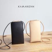 Kamaro'an カマロアン イタリアンレザー iPhoneポーチ ショルダーポーチ 本革 ヌメ革