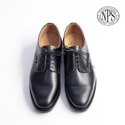 NPS エヌピーエス プレーントゥ レザーシューズ オフィサーシューズ イギリス製 革靴 レザーソール メンズ
