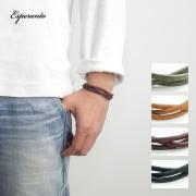 ESPERANTO エスペラント プエブロレザー 編み込み ブレスレット レザー 本革 日本製 メンズ