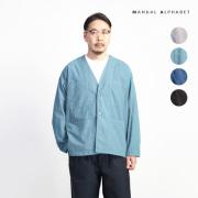 MANUAL ALPHABET マニュアルアルファベット タイプライター ファティーグシャツカーディガン 日本製 メンズ