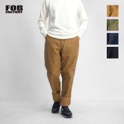 FOB FACTORY FOBファクトリー モールスキン トラウザーズ テーパードパンツ 日本製 メンズ
