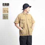 FOB FACTORY FOBファクトリー VATDYEポプリン ジャングルファティーグ半袖シャツ 日本製 メンズ