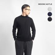 MOONCASTLE ムーンキャッスル カシミヤシルク モックネックニット ハイネック 月城ニット 日本製 メンズ