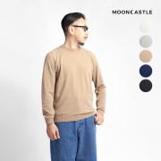 MOONCASTLE ムーンキャッスル アイスコットン クルーネックニット 月城ニット 日本製 メンズ