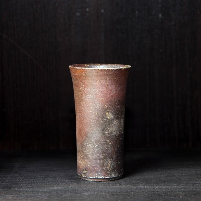 丹波焼 丹波立杭焼 丹文窯 焼き締め ビアグラス ビールグラス 麦酒杯 陶器 おしゃれ