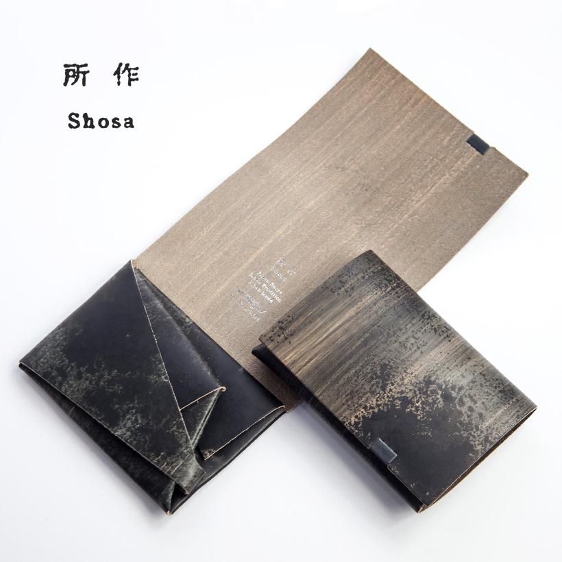 所作 shosa ショートウォレット1.0 等伯 三つ折り財布 本革 レザー 日本製 メンズ レディース