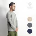 Soglia ソリア ランドノア ブリティッシュウール クルーネックニット セーター エルボーパッチ 日本製 メンズ