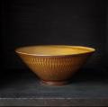 小石原焼 森山實山窯 飛び鉋 ラーメン鉢 どんぶり ブラウン 陶器 かわいい おしゃれ