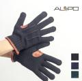 ALPO アルポ ウールカシミヤ×本革レザー ニットグローブ 手袋 イタリア製 メンズ