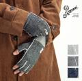 Kepani ケパニ 裏起毛 スウェット 指ぬき グローブ 手袋 saguaro-3 日本製 メンズ レディース