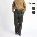 amne アンヌ コーデュロイ ベルト付きタックワイドパンツ セットアップ対応 日本製 メンズ